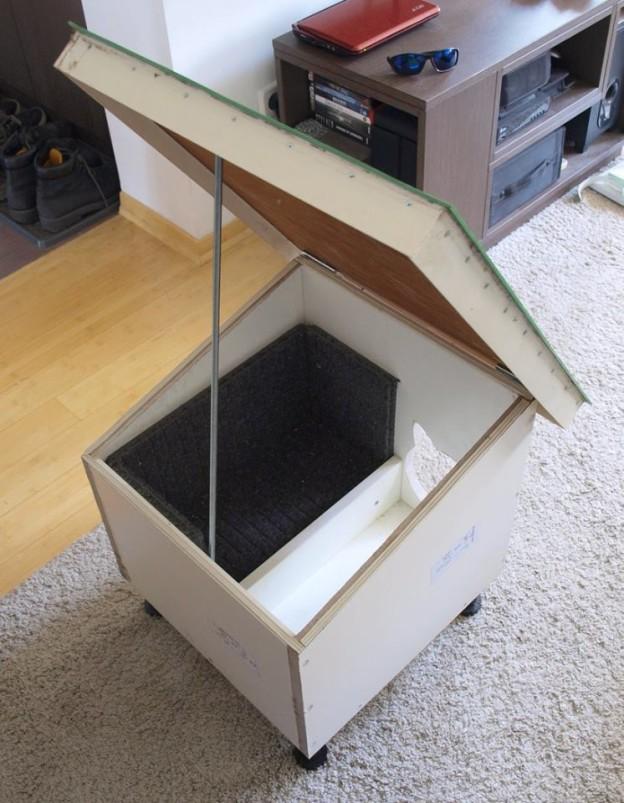 Krov kućice se može otvoriti radi čišćenja