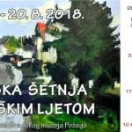 Jumbo plakat - Požeška šetnja muzejskim ljetom 2018