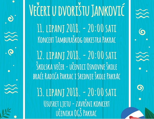 plakat - večeri u dvorištu Janković